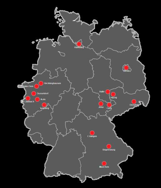 Parkhaus Standorte